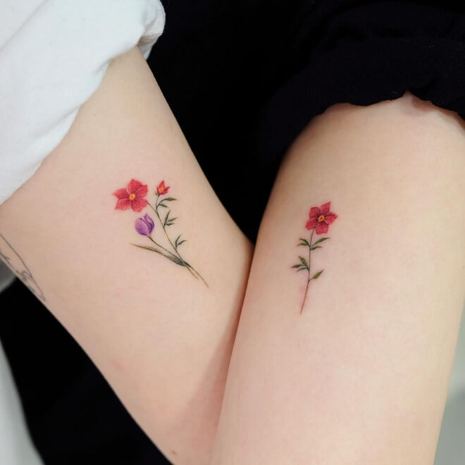 Flower Friendship Tattoo