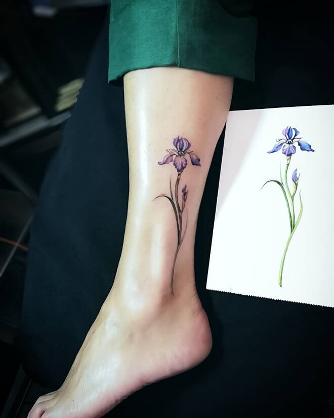 Flower Leg Tattoo