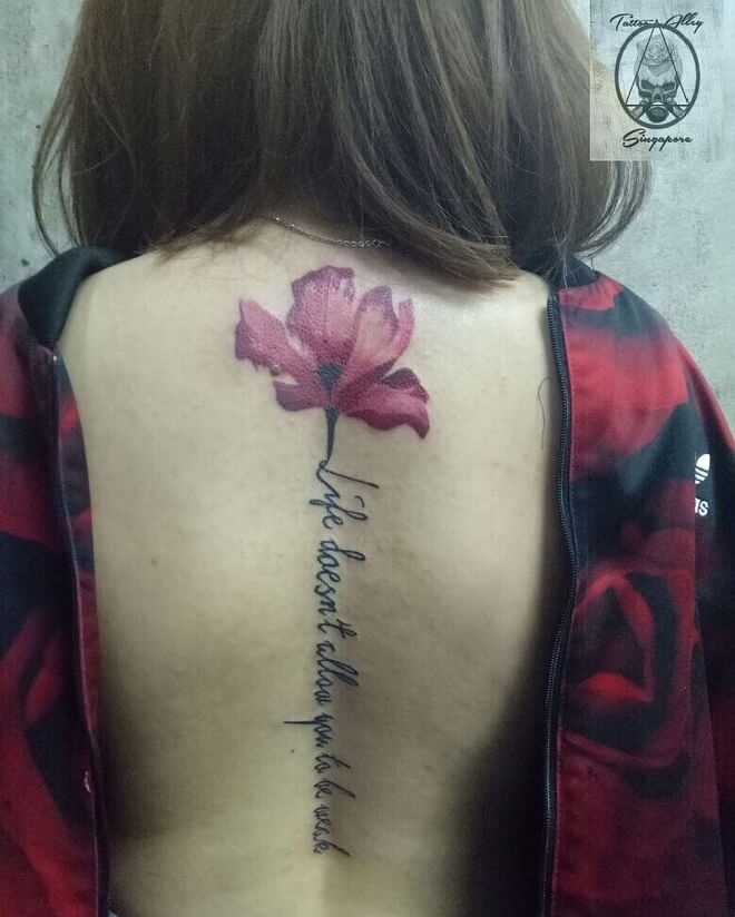 Flower Quotes Tattoo