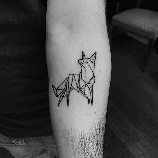 Fox Simple Tattoo