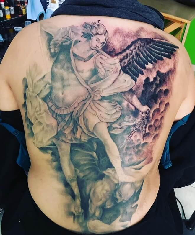 Full Back Badass Tattoo