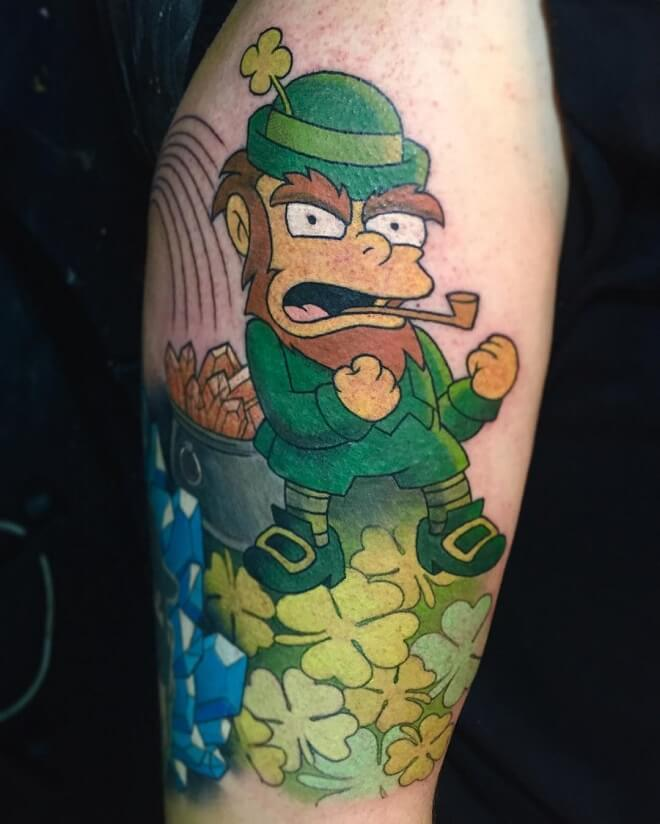 Fullcolor simpsons Tattoo