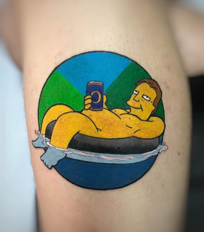 Funny simpsons Tattoo