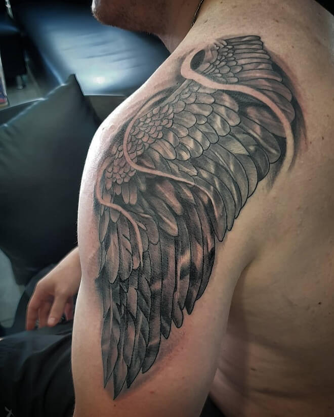 Fusion Ink Angel Wings Tattoo