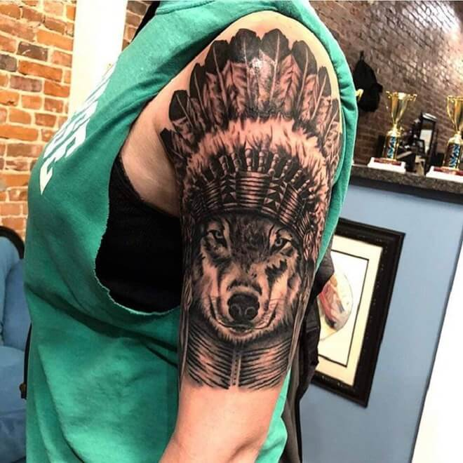 Fusion Ink Wolf Tattoo
