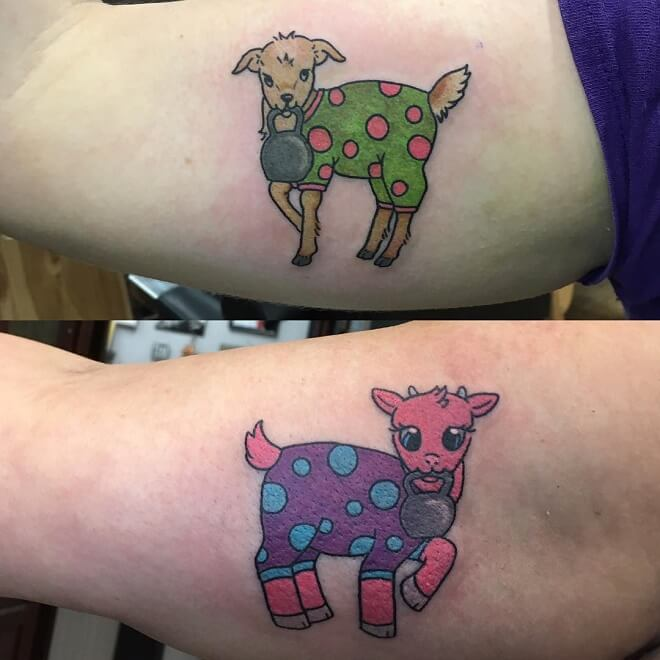Goats Friendship Tattoo