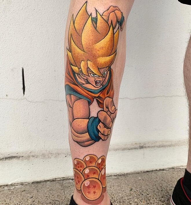 Gold Coast Leg Tattoo