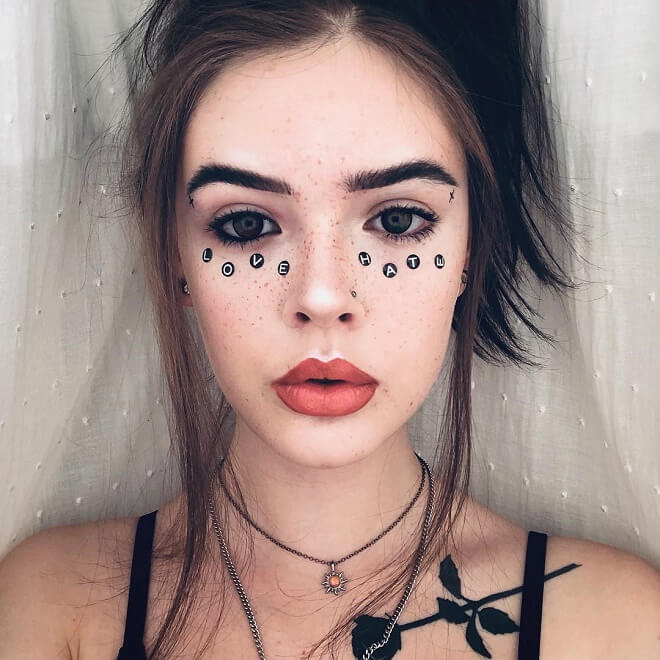 Grunge Face Tattoo