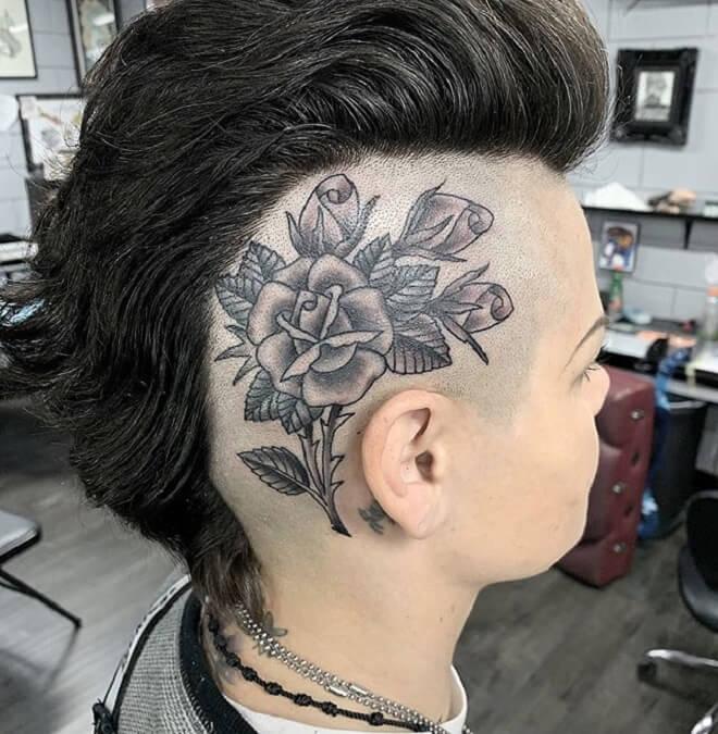 Hair Style Rose Tattoo