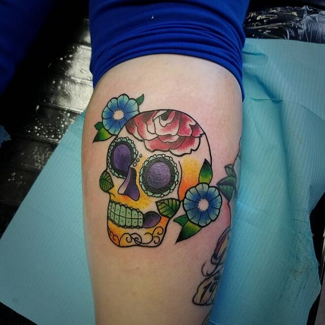 Hand Day of The Dead Tattoo