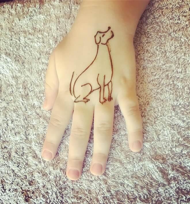Hand Dog Tattoo