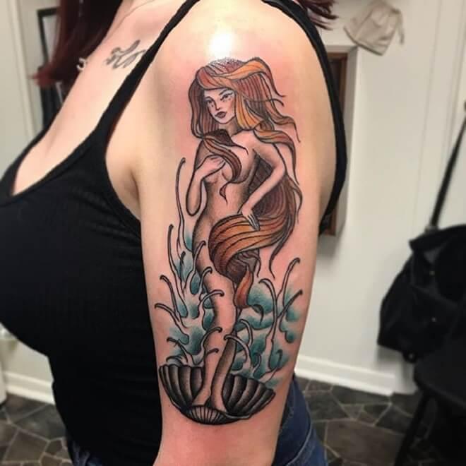 Hand Pin Up Doll Tattoo