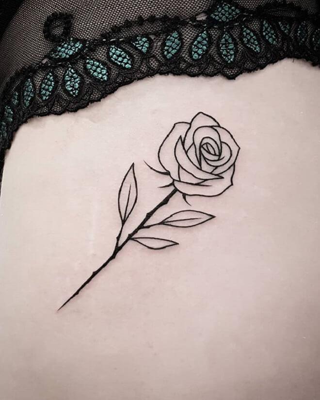 Hd Rose Tattoo Designs