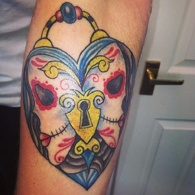 Heart Day of The Dead Tattoo