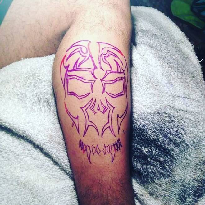 Ink Life Leg Tattoo