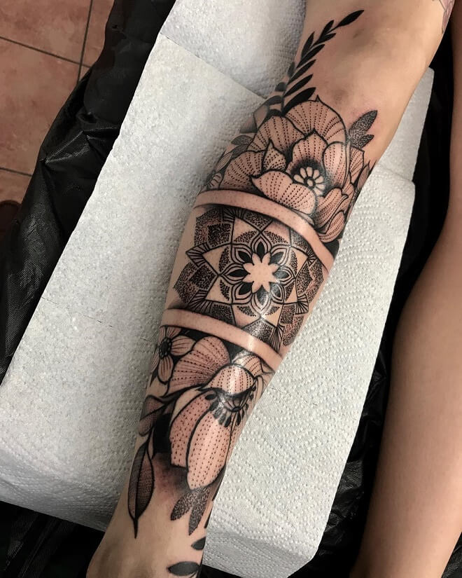 Intenze Ink Leg Tattoo