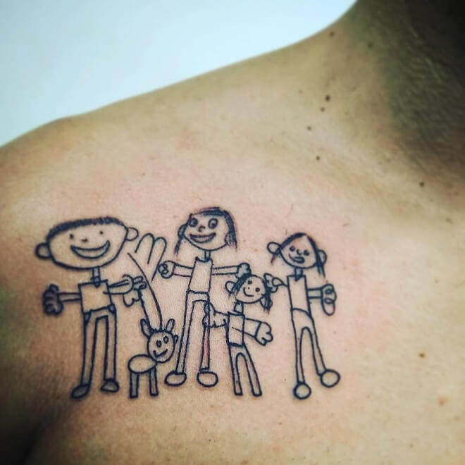 LareinAnegra Family Tattoo