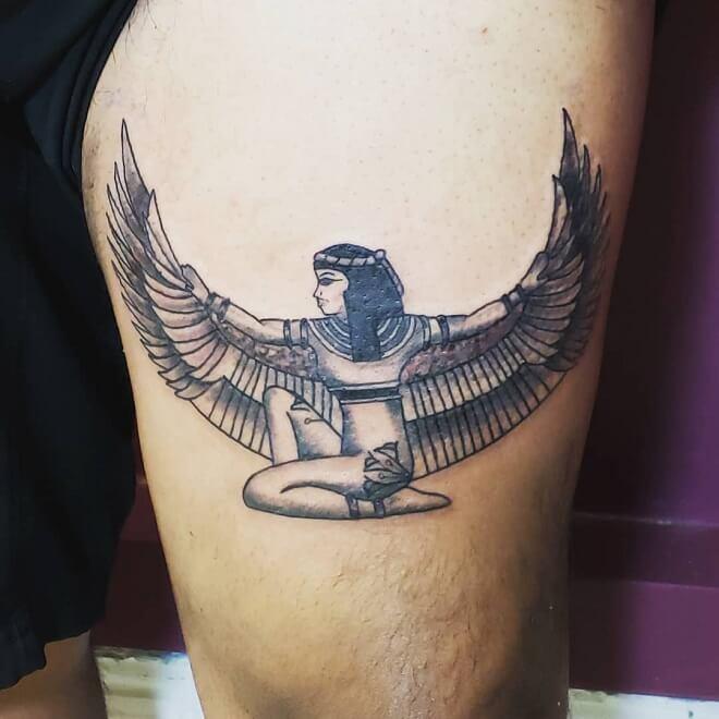 Leg Egyptian Tattoo