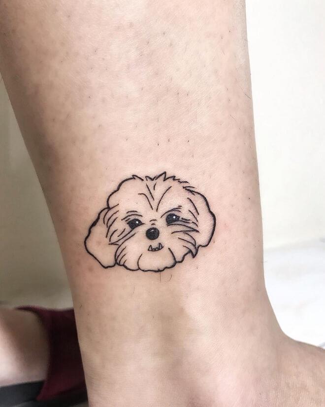 Line Dog Tattoo