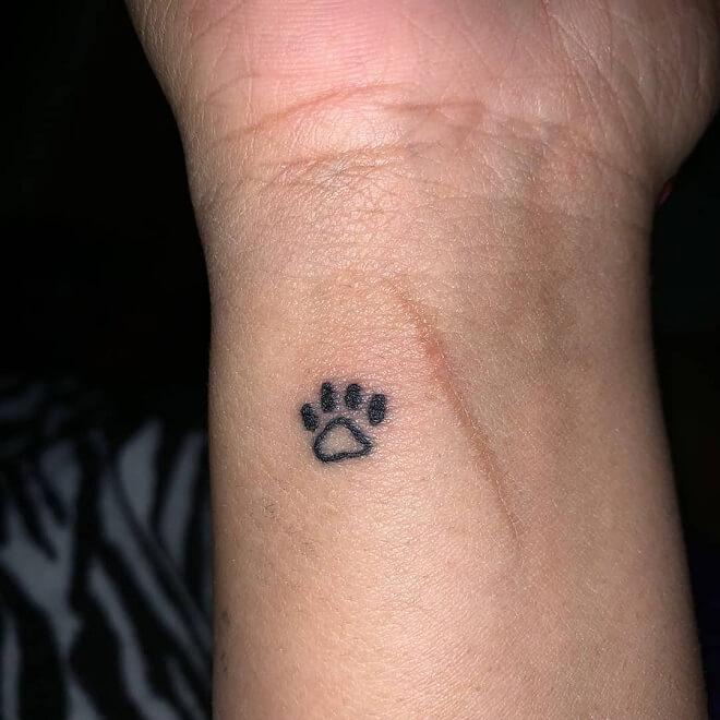Little Paw Print Tattoo