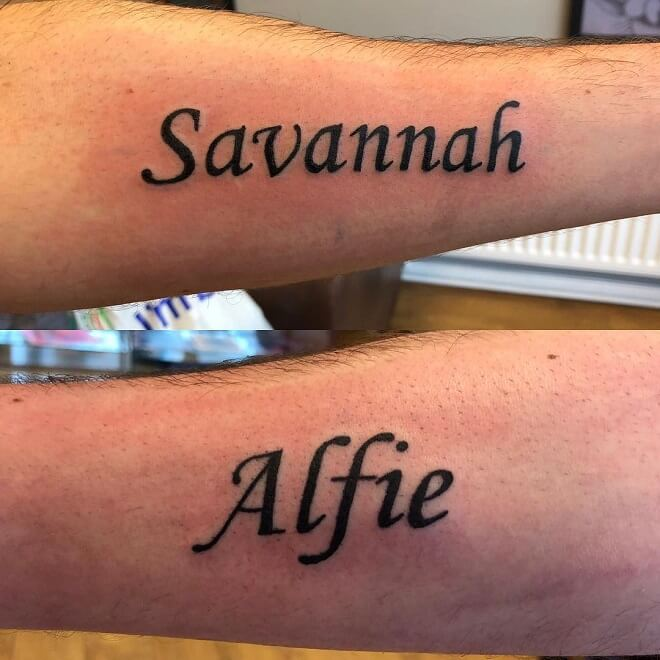 Liverpool Name Tattoos