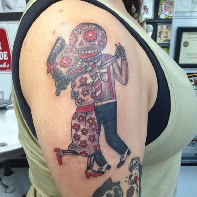 Love Day of The Dead Tattoo