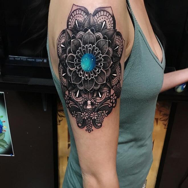 Mandala Capricorn Tattoo