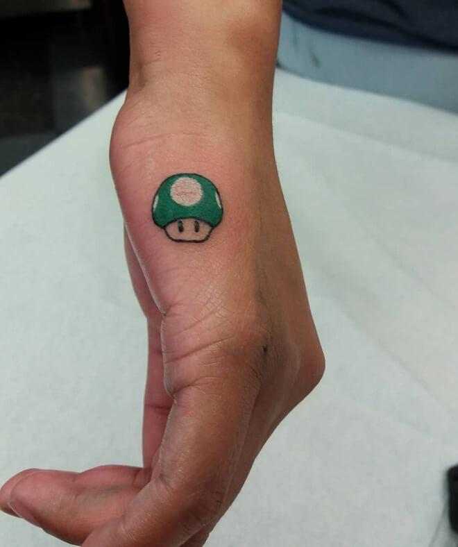 Mario Small Tattoo