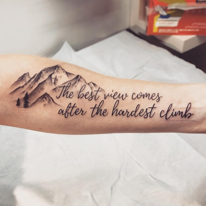 Mountain Quotes Tattoo