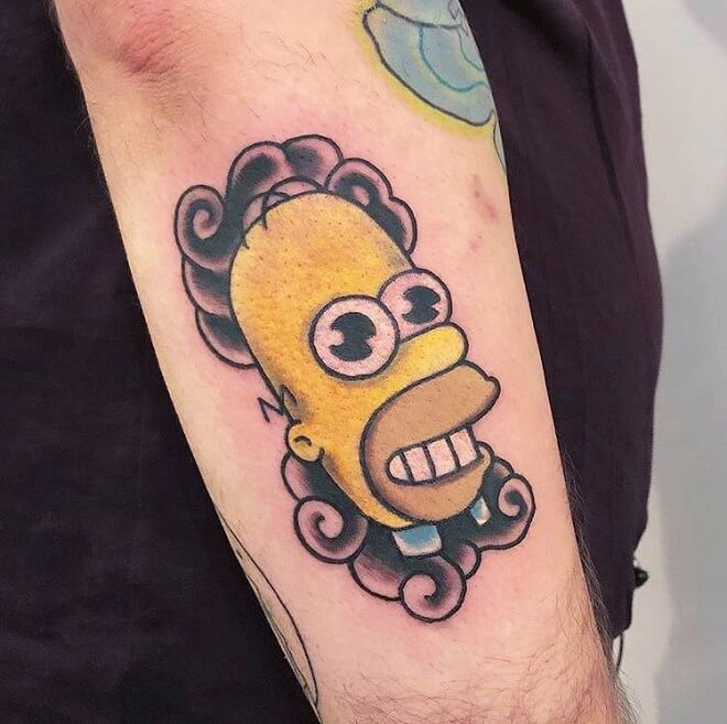 Mr sparkle simpsons Tattoo