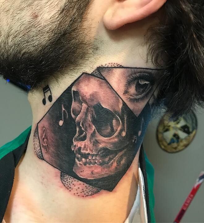 Neck Badass Tattoo