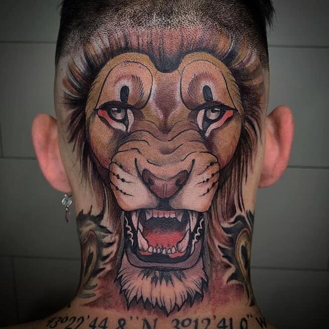 Neck Head Tattoo