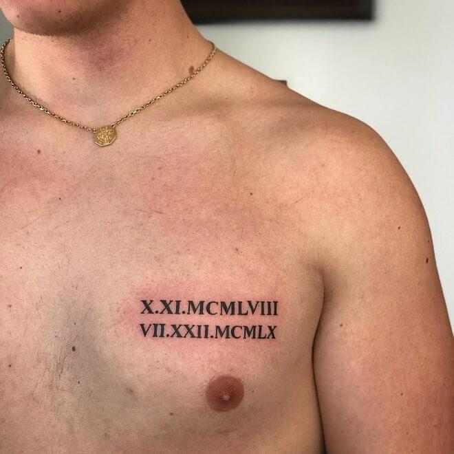 Ontario Roman Numeral Tattoo