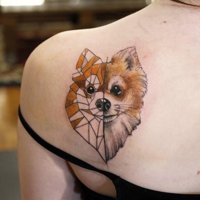 Orange Dog Tattoo