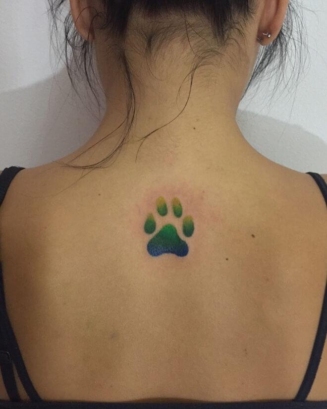 Paw Print Dog Tattoos