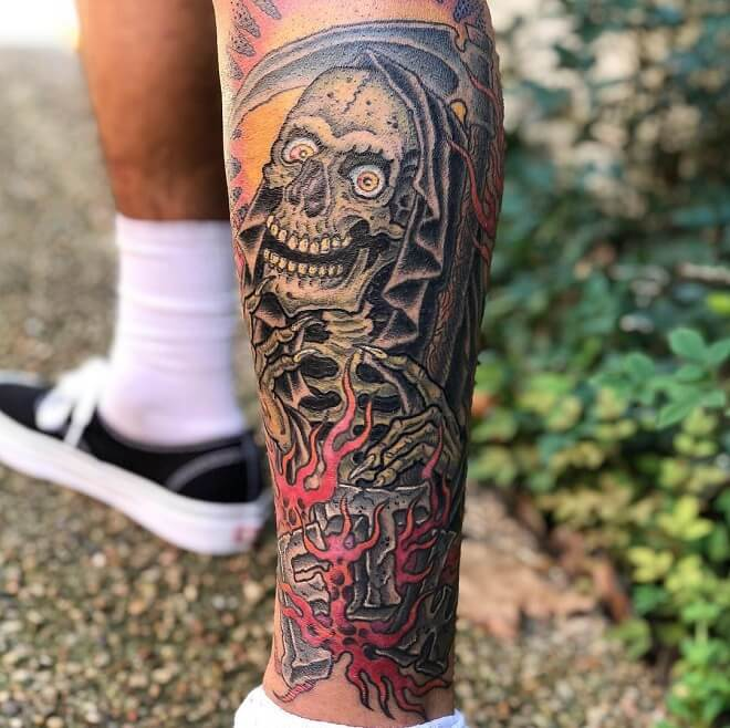 Perfection Grim Reaper Tattoo