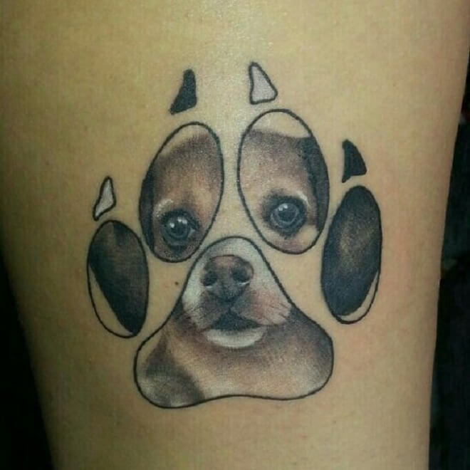 Perroo Paw Print Tattoo