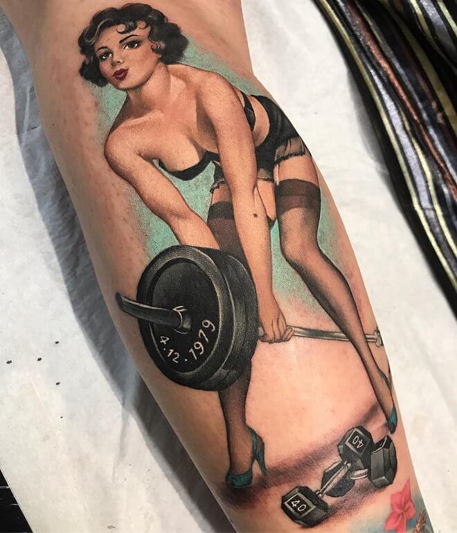 Pin Up Doll Tattoo
