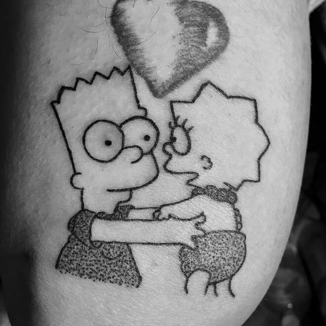 Pinche marijuano simpsons Tattoos