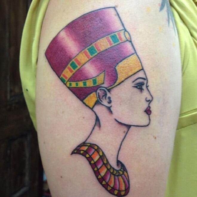 Pink Egyptian Tattoo
