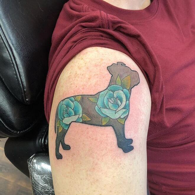 Pitbull Dog Tattoo