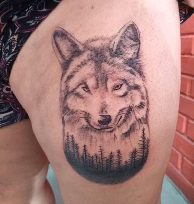 Popular Wolf Tattoos