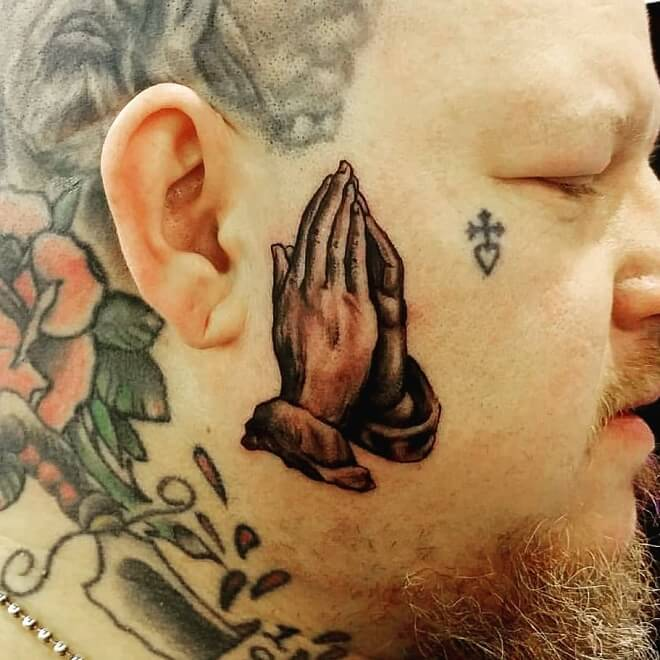 Pray Face Tattoo