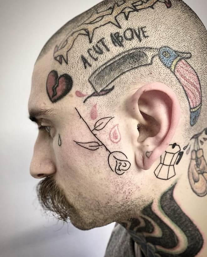 Prison Face Tattoo