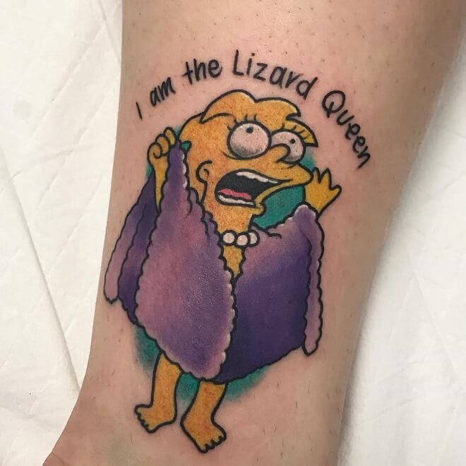 Queen simpsons Tattoo