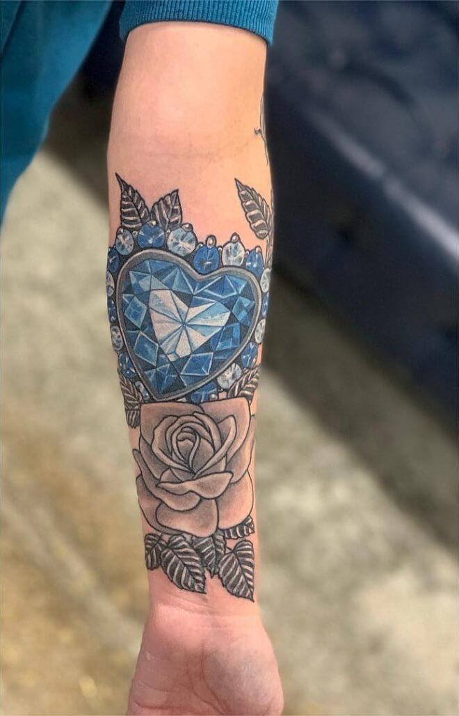 Realistic Diamond Tattoo