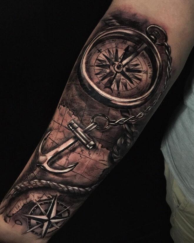 Rosa Anchor Tattoo