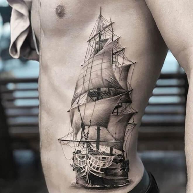 Sailing Body Tattoo