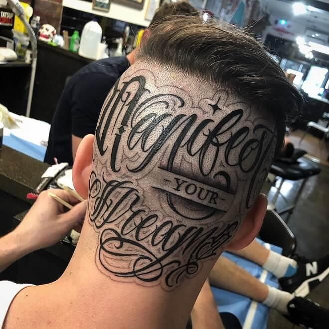 Scrip Head Tattoo