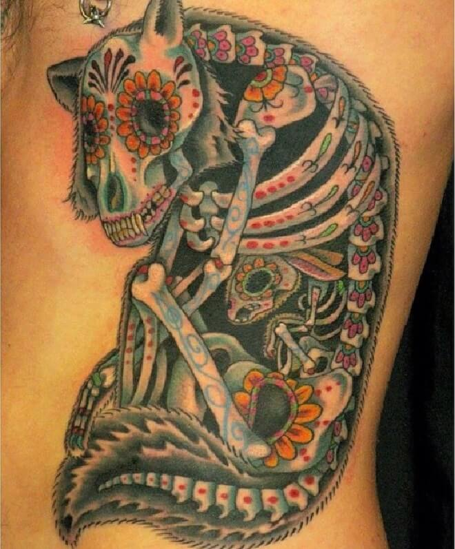 Seattle Day of The Dead Tattoo